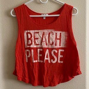 """Beach Please"" muscle tees"